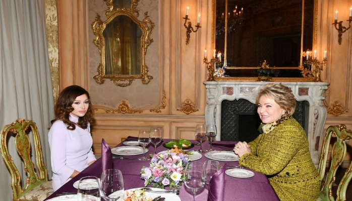 Состоялся совместный ужин Первого вице-президента Мехрибан Алиевой и председателя Совета Федерации РФ Валентины Матвиенко