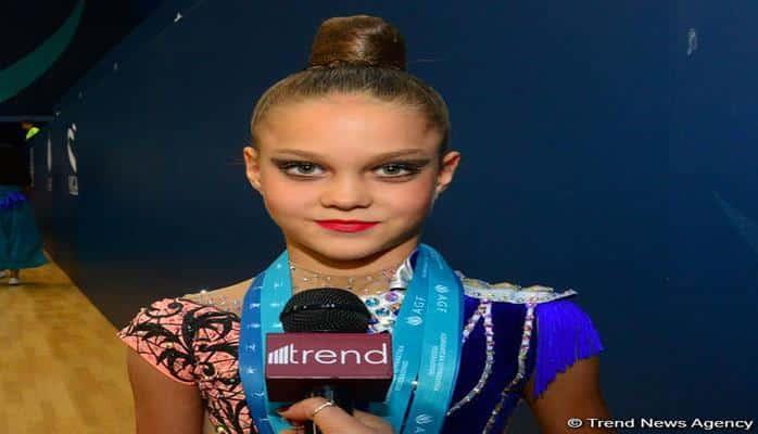 """Ukraynalı gimnast: """"Bakıda Milli Gimnastika Arenasını çox bəyəndim"""""""
