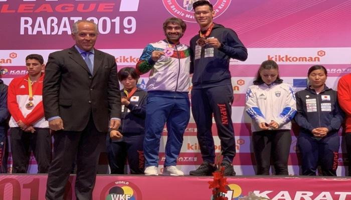 Rafael Ağayev Karate1 Premyer Liqa turnirində bürünc medal qazanıb