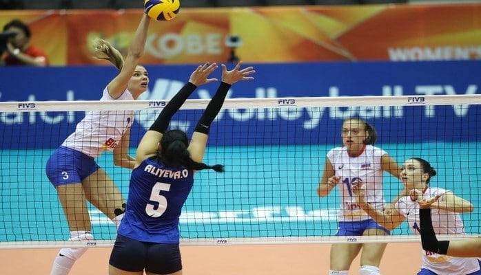 Сборная Азербайджана по волейболу проиграла сборной России