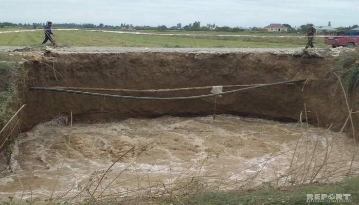 На пролегающем через Барду отрезке Карабахского водоканала произошла утечка