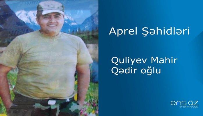 Mahir Quliyev Qədir oğlu