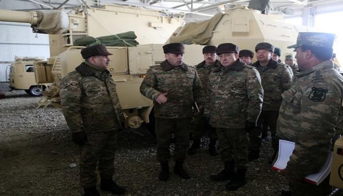 Закир Гасанов и Магеррам Алиев посетили воинские части в прифронтовой зоне