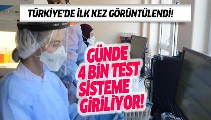 Türkiye'de ilk kez görüntülendi! İşte ilk Covid-19 laboratuvarı
