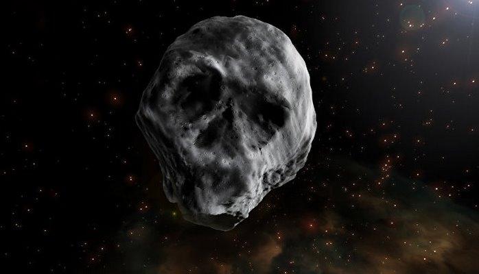 К Земле приближается астероид в форме черепа