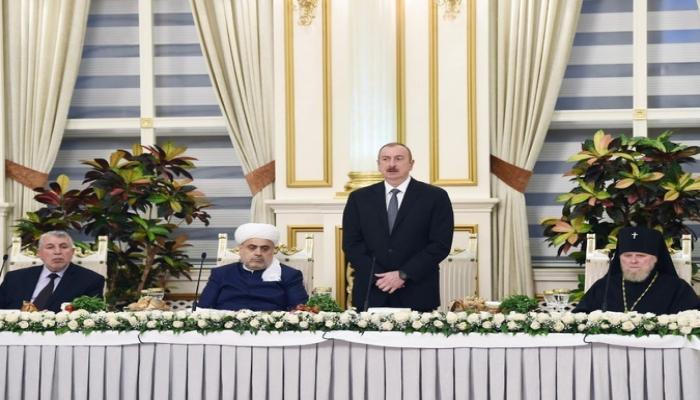 İlham Əliyev: 'Bu gün Azərbaycan dünya miqyasında dinlərarası dialoqun aparılması üçün mərkəzə çevrilib'