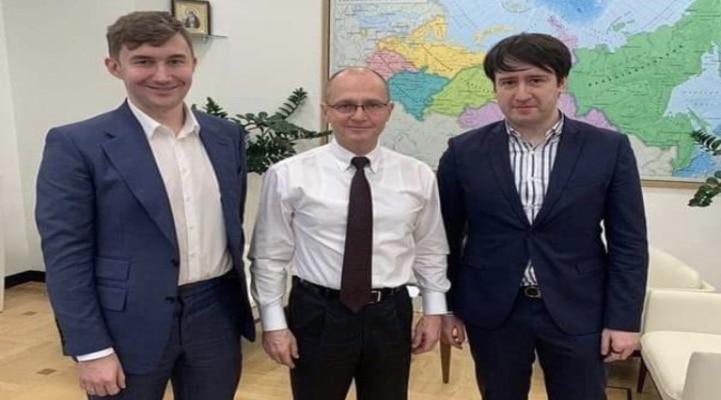 Teymur Rəcəbov Rusiya Prezidenti Administrasiyası rəhbərinin müavini ilə görüşüb