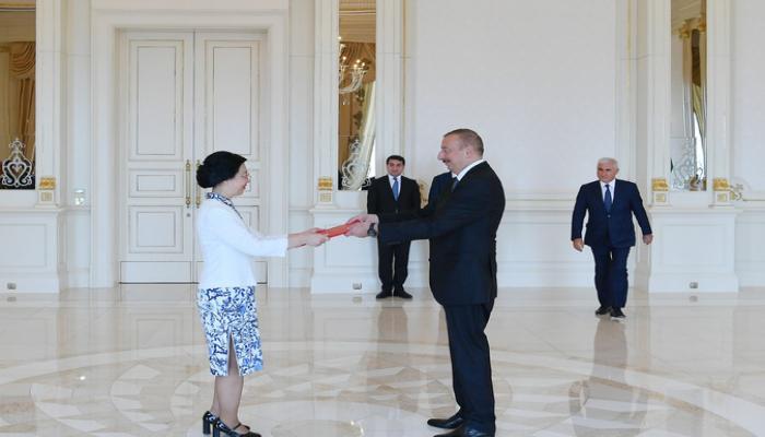Azərbaycan Prezidenti Çinin yeni səfirinin etimadnaməsini qəbul edib