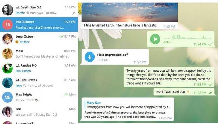 Səssiz mesaj, yavaş rejim - Telegram yeni funksiyalarını işə saldı