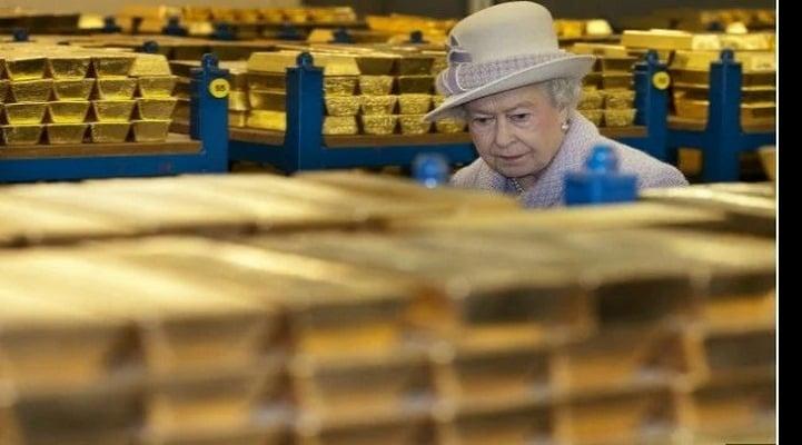 Böyük Britaniyanın qızılını mənimsədiyi ölkələr çoxdurmu?
