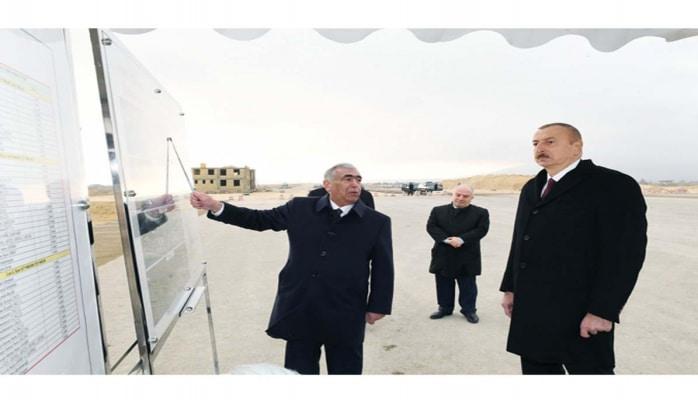 Президент Ильхам Алиев ознакомился со строительством новой автодороги Баку-Губа-госграница России