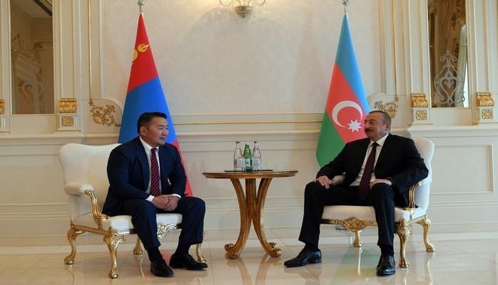 Azərbaycan və Monqolustan prezidentlərinin görüşü olub