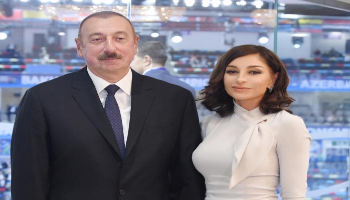 Президент Ильхам Алиев и Первая леди Мехрибан Алиева принимают участие во II Саммите мировых религиозных лидеров в Баку