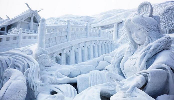 В Японии начался ежегодный фестиваль скульптур из снега и льда