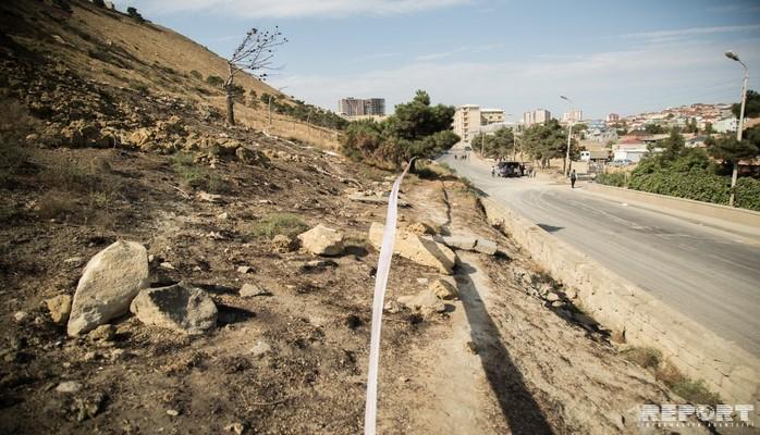 МЭПР: В зоне оползня в Бадамдаре продолжаются мониторинги
