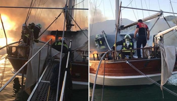 ABŞ gəmisi Türkiyə sularında yandı