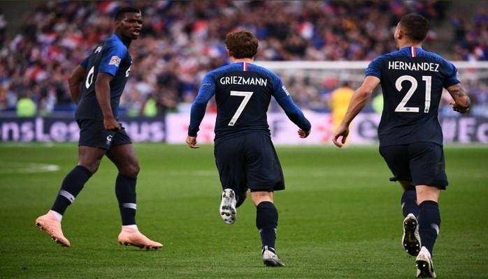 Футболисты сборной Франции обыграли команду Германии в матче Лиги наций