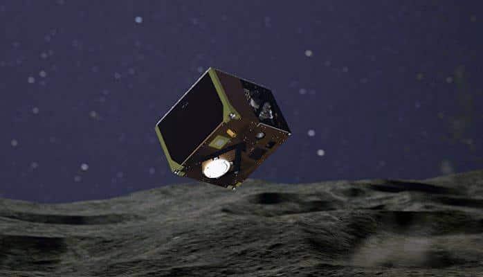 Ровер MASCOT передал первые снимки после посадки на астероид Рюгю