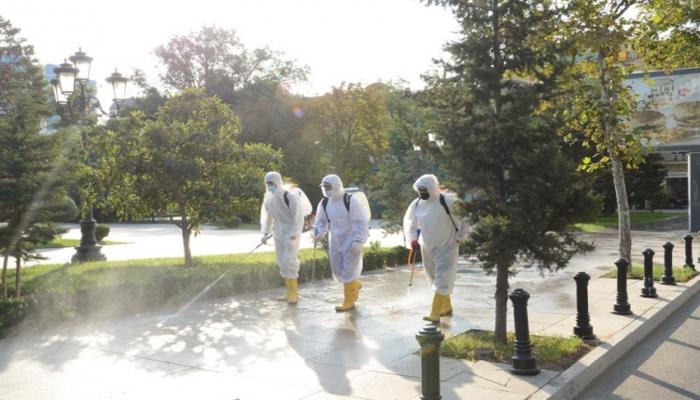 Bakıda 553 küçə dezinfeksiya edildi