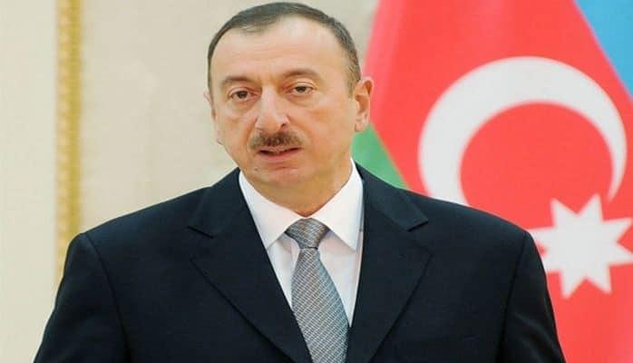 İlham Əliyev yeni salınan avtomobil yolunun açılışında iştirak edib