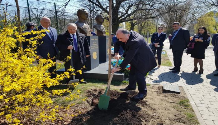 В Варшаве посажены деревья в честь 100-летия восстановления независимости Азербайджана и Польши
