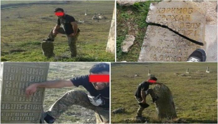 Ermənilər Qarabağda qəbirlərimizi belə dağıdır