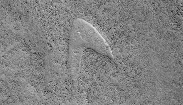 На Марсе обнаружен огромный логотип из Star Trek