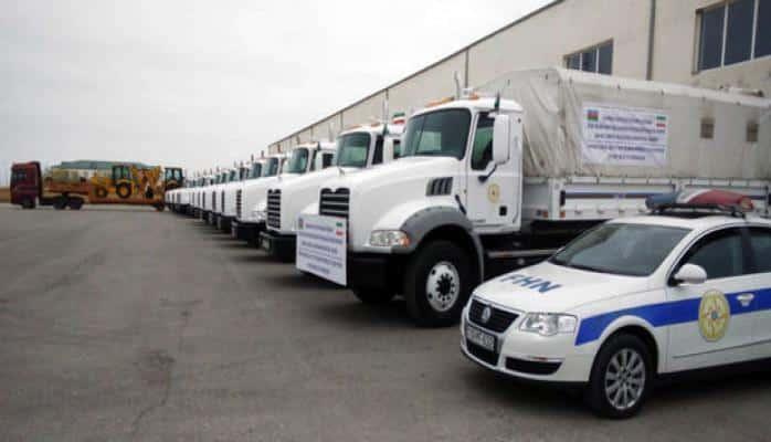 Азербайджан направил Ирану гуманитарную помощь