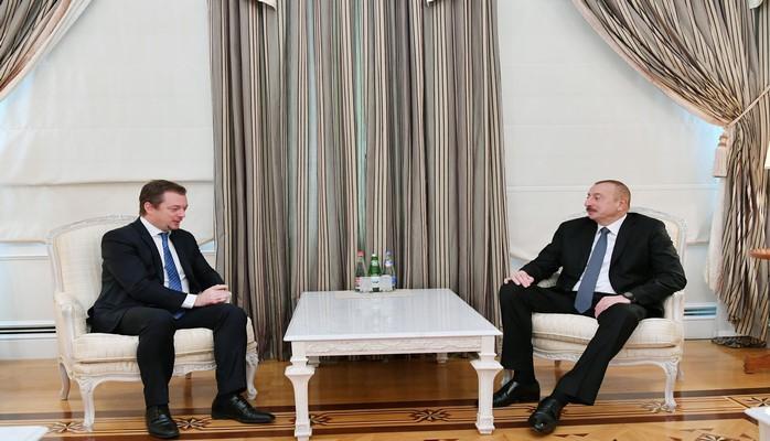 Президент Ильхам Алиев принял президента Международной паралимпийской федерации