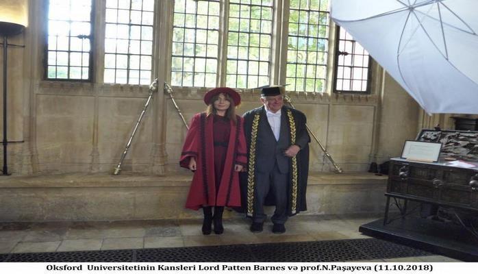 Наргиз Пашаева принята в постоянные члены Комитета благотворителей канцлера Оксфордского университета