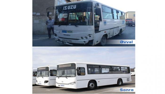 В Баку объединены два автобусных маршрута