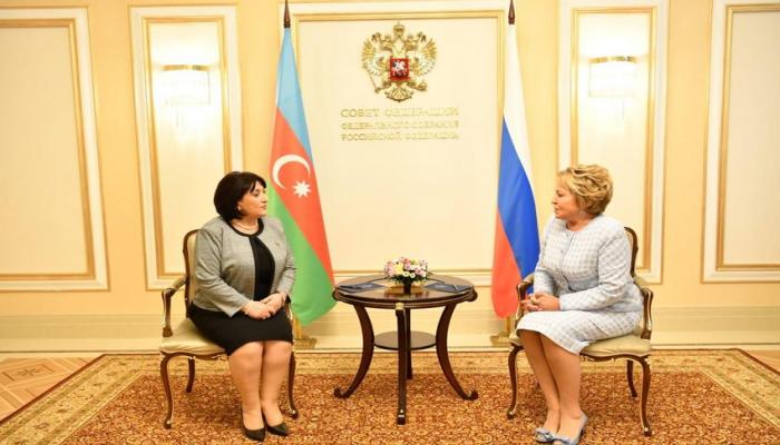 Sahibə Qafarova Rusiya Federasiya Şurasının sədri ilə görüşüb