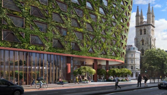 """Londonda Avropanın ən böyük """"yaşıl divarlı"""" binası tikiləcək"""