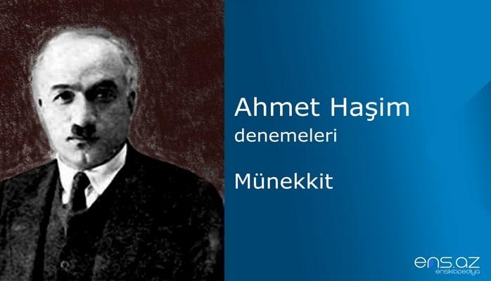 Ahmet Haşim - Münekkit