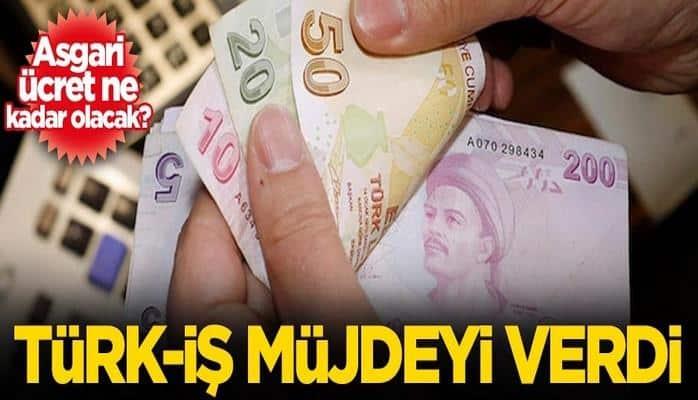 Asgari ücret ne kadar olacak? Türk-İş müjdeyi verdi