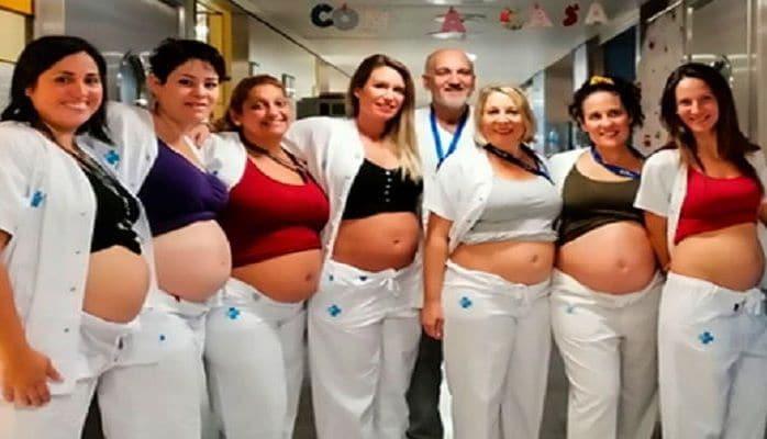 Сразу семь медсестер из одного отделения для новорожденных забеременели