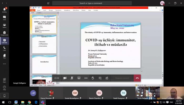 В БГУ прошел онлайн мастер-класс на тему: «Троица COVID-19: иммунитет, воспаление и вмешательство»