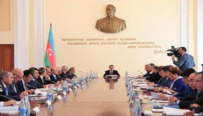 Под председательством премьер-министра Новруза Мамедова состоялось заседание Кабинета Министров