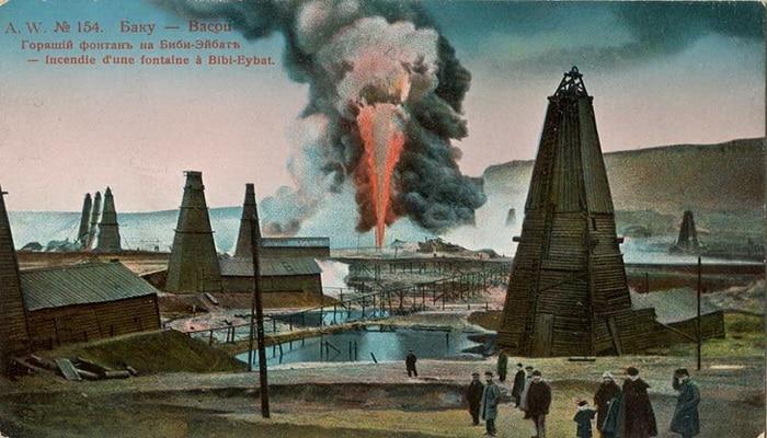 Бакинские нефтепромыслы и Черный город на открытках 19-начала 20 вв. (ФОТО) – часть 2