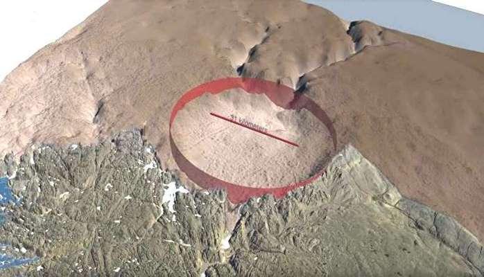 Подо льдами Гренландии находится огромный кратер, оставленный метеоритом