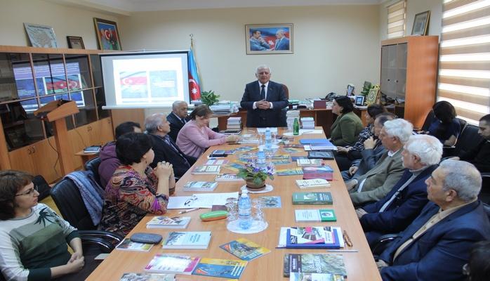 Ученого совета Института истории НАНА прошла презентация публикаций института в 2019 году.