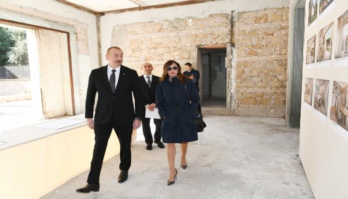 Prezident və Birinci xanım Azərbaycan Mədəniyyət Mərkəzi üçün nəzərdə tutulan bina ilə tanış olublar
