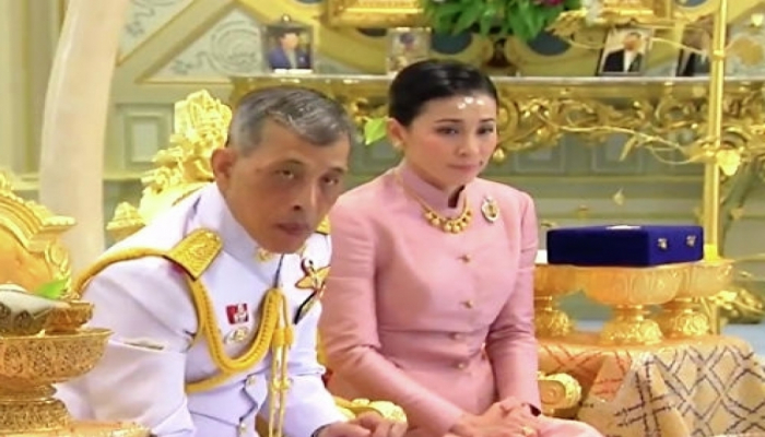 Tailand kralı general xanımla evlənib