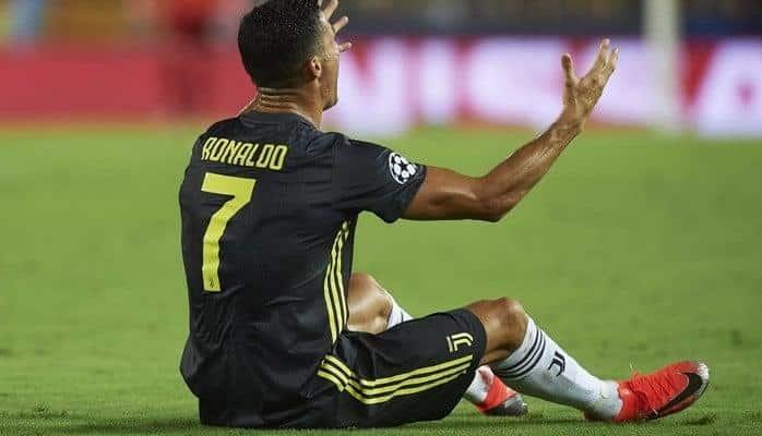 Роналду получил в Лиге чемпионов дисквалификацию