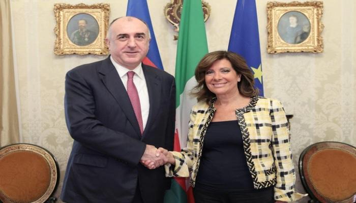 Elmar Məmmədyarov İtaliya Senatının sədri ilə görüşüb