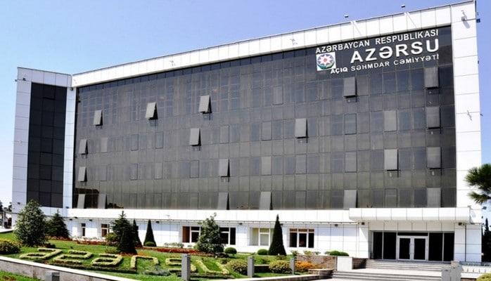 """""""Azərsu"""" partlayan su borusunu """"skoç""""la bağladı"""