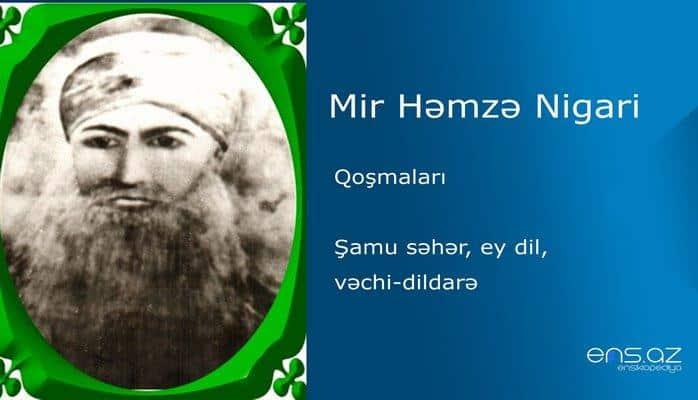 Mir Həmzə Nigari - Şamu səhər, ey dil, vəchi-dildarə