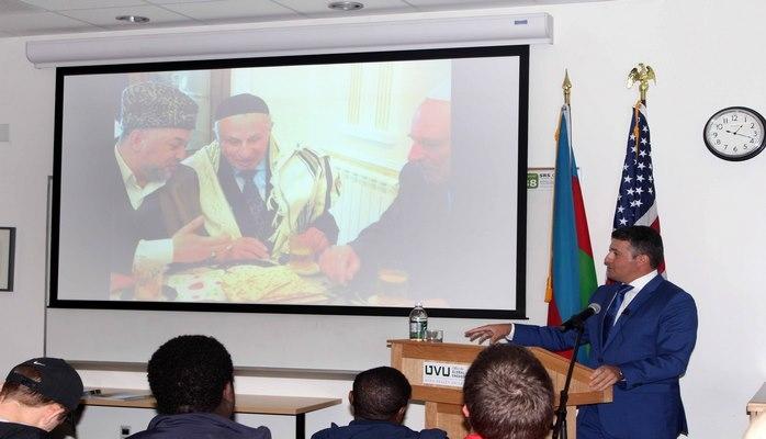 В Университете США состоялось лекция, посвященная Азербайджану