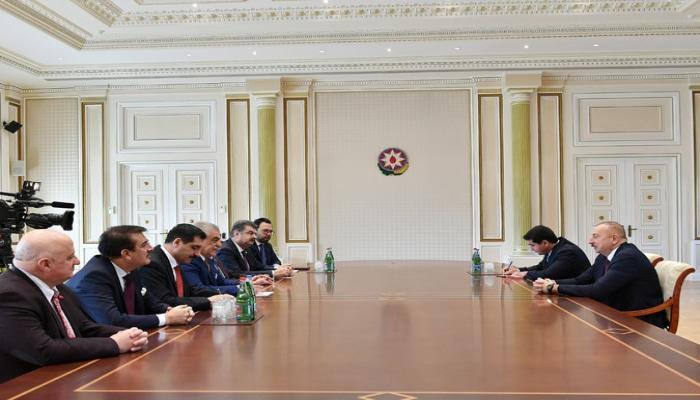 Ильхам Алиев принял делегацию Турецко-азербайджанской межпарламентской группы дружбы