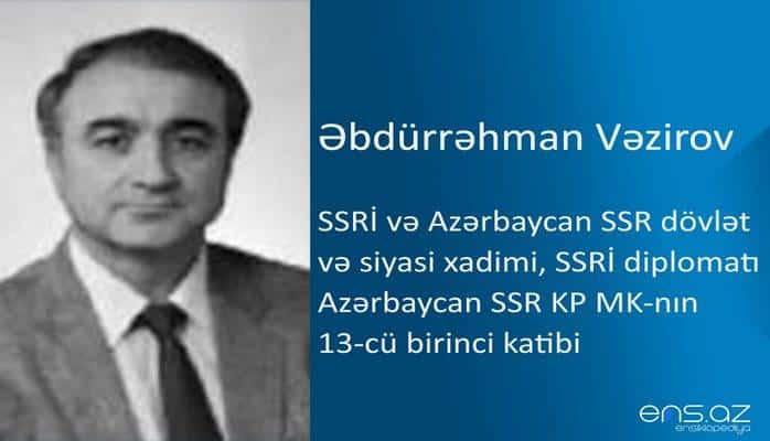 Əbdürrəhman Vəzirov